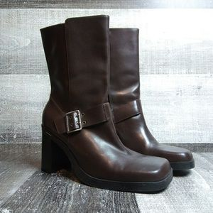 TOMMY HILFIGER Brown Leather Boots Sz 6